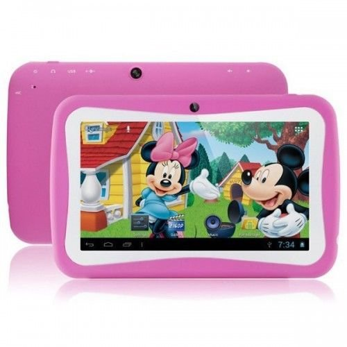 7inch Kids Tablet Google Android 4.4 Quad Core Multi-Touch Screen 4GB Hard Drive Pre-installed Games and Apps, Google Play Store, Kids Desktop etc Pink (Pink)
