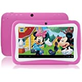 7inch Wopad Google Android 7.1 Quad Core Multi-Touch Touch Screen 1GB RAM 8GB Hard Drive KIDS Tablet Pink (Certified Refurbished)