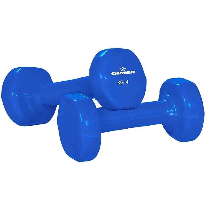 GIMER 13/097 Mancuernas, Olimpico, 2 x 4 kg: Amazon.es: Deportes y aire libre