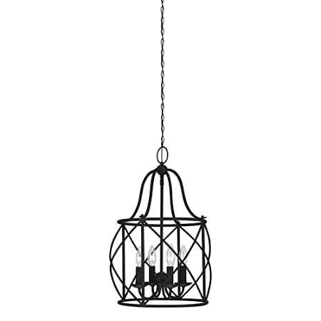 Sea Gull Lighting 5116404-839 Turbinio Four-Light Hall or Foyer Light Fixture, Blacksmith Finish