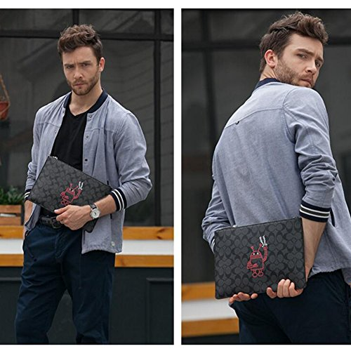 2 Clutch T Fashion Qidi T Male color Bag 4 Polyester High Handbag Onesize Size Capacity Hand xYawZYfq