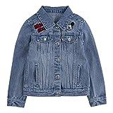 Levi's Girls' Little Denim Trucker Jacket, Mickey, 6X