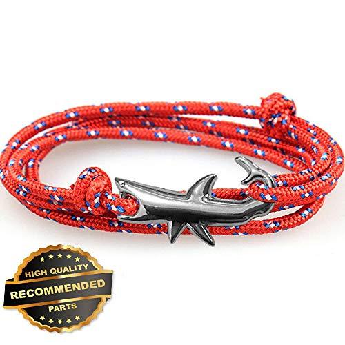 Gatton Shark Men Women Weaving Jewelry Bijoux Homme Rope Braclet Adjustable Bracelet | Style GATBRC-1127431