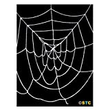 4.5' ft Deluxe Large Spider Web (White) ~ Halloween Spider Web Decorations & Props