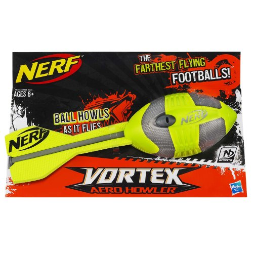 Nerf N-Sports Vortex Aero Howler Football, Green and Grey