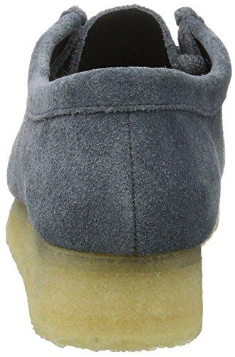 Wallabee Mujer Azul de Suede Slate Derby Cordones para Zapatos Clarks vYRqdnd