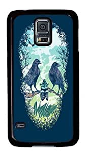 Rosesea Custom Personalized Nature's Skull PC Case Cover for Samsung S5 and Samsung Galaxy S5 wangjiang maoyi