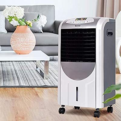 Multifunctional 5 In 1 Portable Air Cooler, Fan, Heater, Air Purifier w/Wheel Moved Easily Private Area Perfect Supplemental Source During Solution Spaces Living, Bed Room