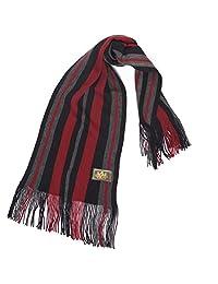 Rio Terra Men's Knit Winter Scarf - Red & Grey