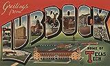 Greetings from Lubbock, Texas (Texas Tech) (12x18 Art Print, Wall Decor Travel Poster)