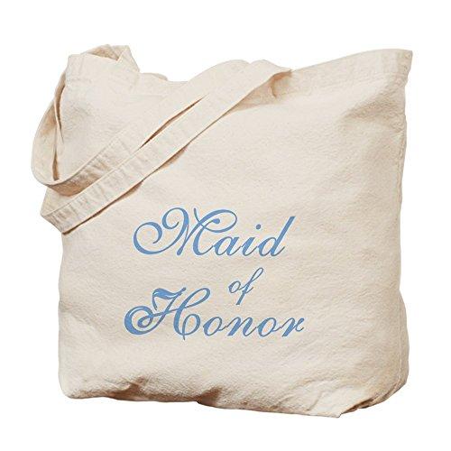 CafePress–velato damigella d' onore blu testo–Borsa di tela naturale, panno borsa per la spesa