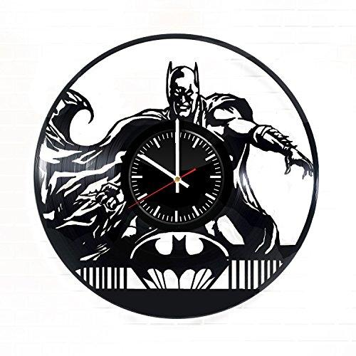 Batman Emblem Vinyl Record Wall Clock - Get unique bedroom wall decor - Gift ideas for friends, parents, siblings – DC Comics Superhero Unique Modern (Diy Batgirl Costume Ideas)