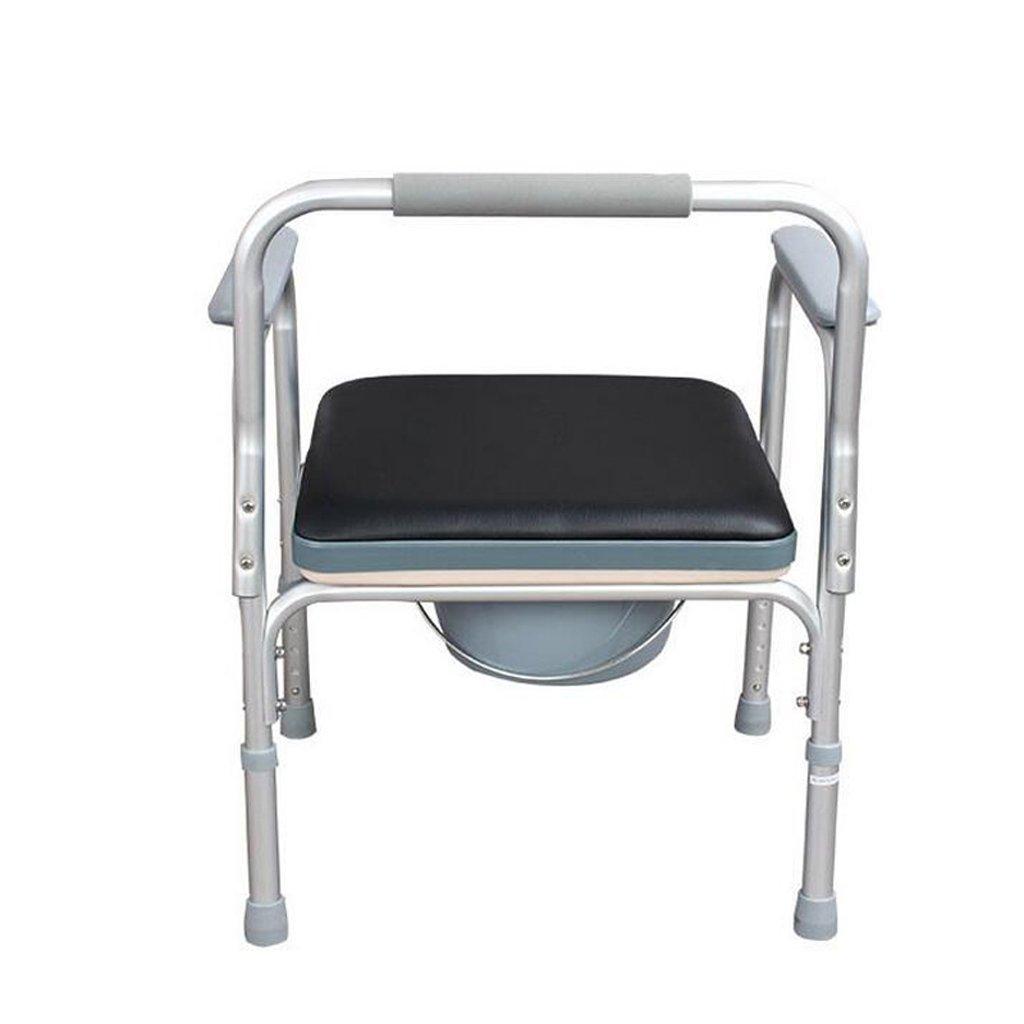 家庭の照明- トイレ椅子アルミニウム合金材料障害のある妊娠中の女性折りたたみ式便座57 *(70-80)cm B07DKCL53N