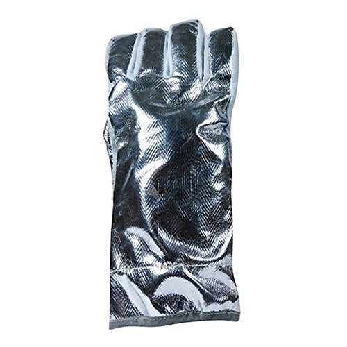 Magid Glove & Safety AX6501AWKW WeldPro minized Leather Welding Gloves, Large, Aluminized