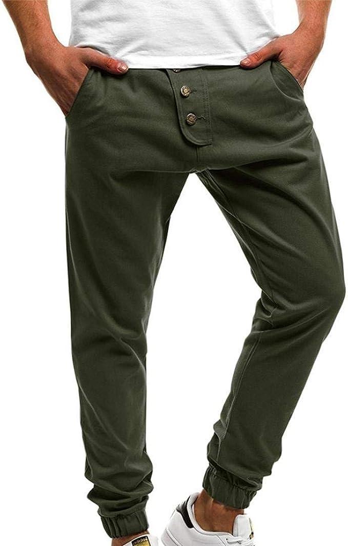 ADELINA Pantalones para Hombres Adelgazan Los Pantalones Largos ...