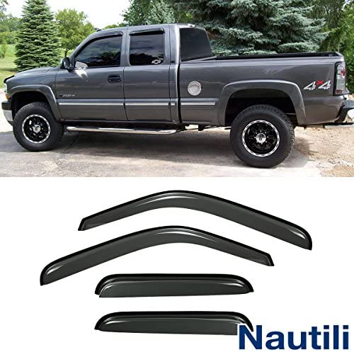 230082 4 Pieces Voron Glass in-Channel Extra Durable Rain Guards for Trucks Toyota Tundra 2007-2020 Double Cab Vent Window Visors Window Deflectors
