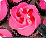 valentines baking sprinkles - MSD Mousepad Mouse Pads/Mat design 35067046 llector Above view of Valentines Day cupcakes with pink frosting and heart sprinkles