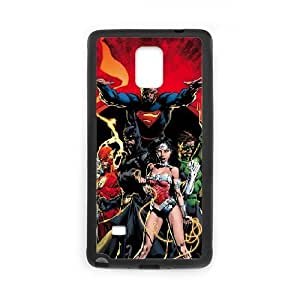 Samsung Galaxy Note 4 Cell Phone Case Covers Black Justice League Yyoe