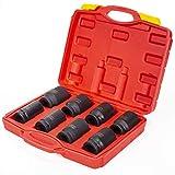 "XtremepowerUS 3/4"" Drive Deep Impact Socket Set 8"