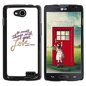 TopCaseStore / la caja del caucho duro de la cubierta de protección de la piel - Love Valentines Day White Text Quote - LG OPTIMUS L90 / D415