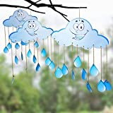 TOYXE 40039 Hanging Cloud for Birthday Decoration, Baby Shower, 1st Birthday, Anniversary Party, Office Party, Play School, Kids Room Decoration - Blue (Pack of 2)