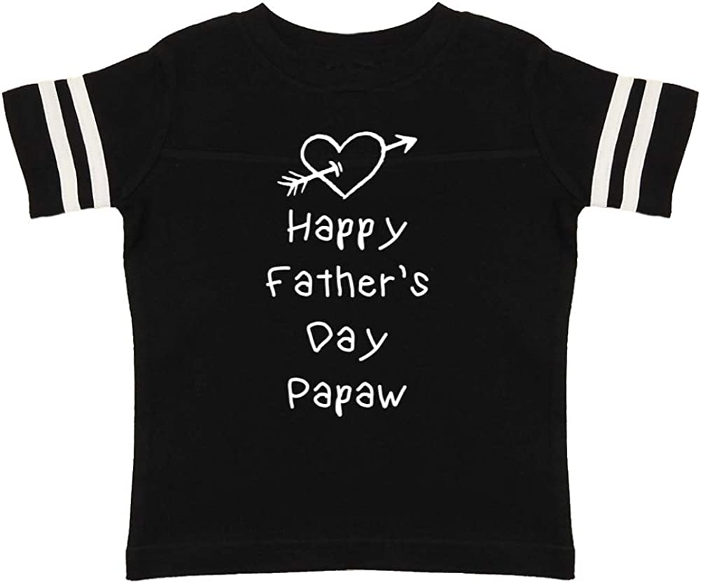 Toddler//Kids Sporty T-Shirt Heart and Arrow Happy Fathers Day Papaw