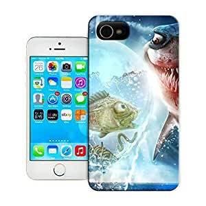 TYH - Unique Phone Case Animal personality patterns evil fish hunting photoshop painting art wicked funny Hard Cover for iPhone 4/4s cases-buythecase ending phone case