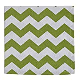 Design Imports Leaf Chevron Print Napkin, Set of 2