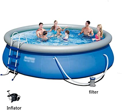 Dnnal Inflatable Swimming Pool Children S Adult Large Paddling Pool Home Thickened Above Ground Swimming Pool Summer Family Water Play Fun Backyard Toy Sports Outdoors