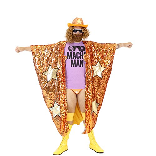WWE Randy Savage Macho Man Madness Sequin Costume Cape - Wwe Macho Man Costume