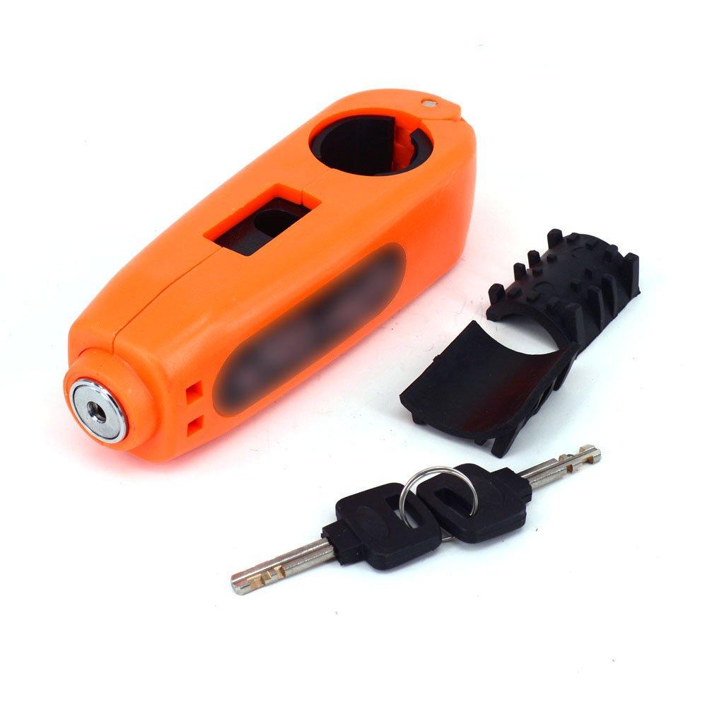 JFG RACING Orange Universal Motorcycle Handlebar Grip Throttle Clutch Brake Lever Lock Anit Theft Security Caps-Lock KTM EXC EXCF SX SXF SXS MXC MX XC XCW XCF XCFW EGS Enduro