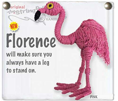 - Kamibashi Florence Flamingo Original String Doll Gang Keychain