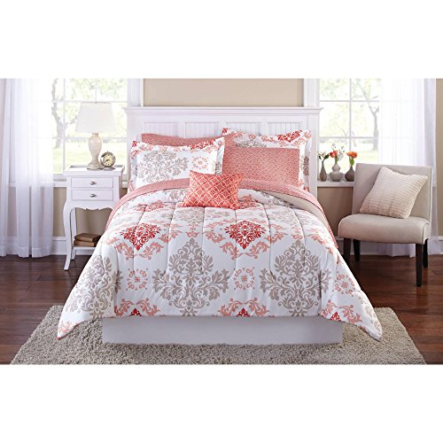 Girls Coral Damask Piece Comforter product image