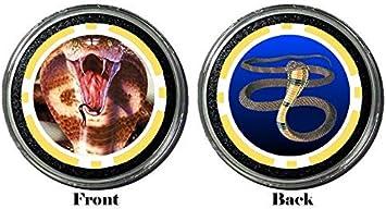 King Cobra Snake Protector Holdem Poker Chip//Card Cover Card Guard