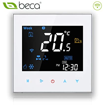 Termostato programable Beca 3000 Series 95 ~ 240VAC dos / cuatro tubos para aire acondicionado Fan