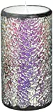 GiveU Led Pillar Candle, Mosaic Flameless Candle with Timer,Battery-Operated, Wedding Decor, 3x8 Inches, Multicolor