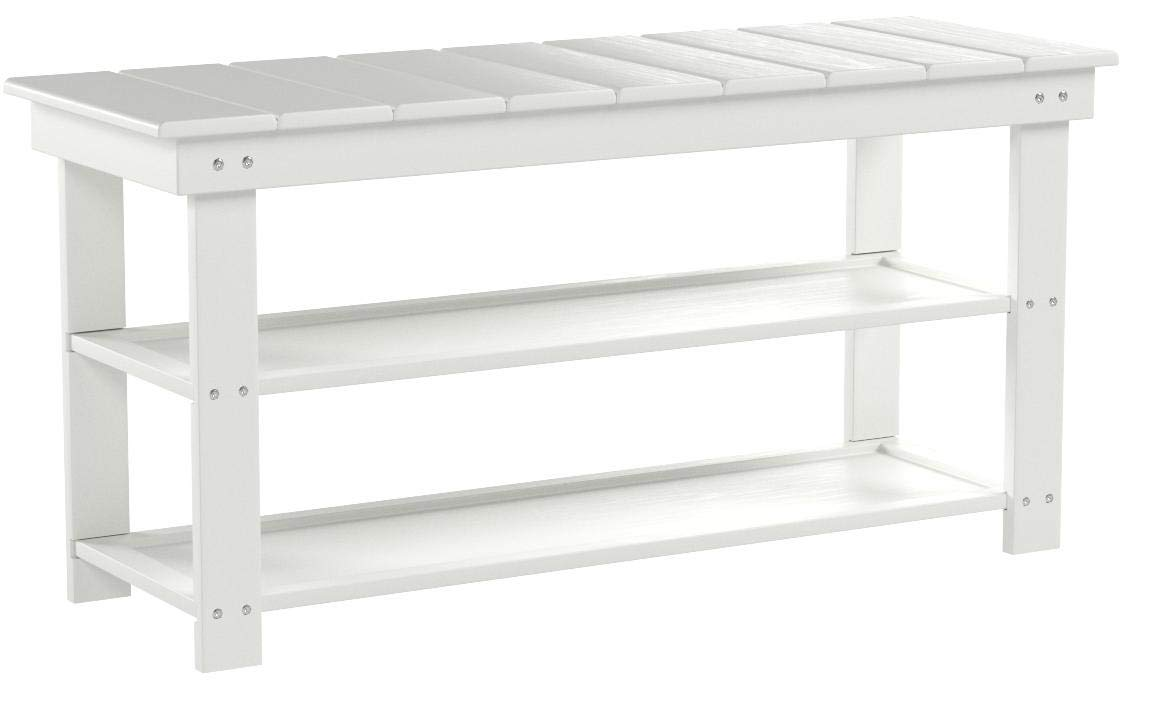 Convenience Concepts 203300W Oxford Utility Mudroom Bench, White by Convenience Concepts