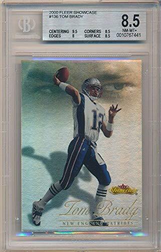 BIGBOYD SPORTS CARDS Tom Brady 2000 Fleer Showcase #136 RC Rookie Patriots SP #/2000 BGS 8.5 NM-MT+