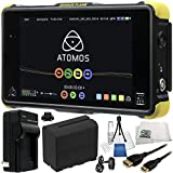 Atomos Shogun Flame 7'' 4K HDMI/12-SDI Recording Monitor 17PC Accessory Kit. Includes Replacement F970 Battery + AC/DC Rapid Home & Travel Charger + Mini HDMI Cable + MORE