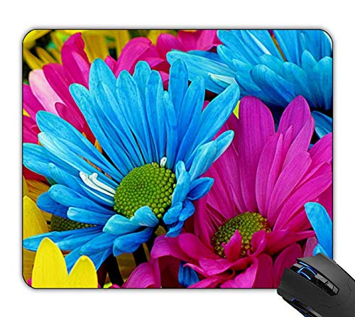 Gerber Daisy Personalized - OTTIET Custom Colorful Gerber Daisy Flowers Gaming Mouse Pad 9.5 X 7.9 Inch (240mmX200mmX2mm).Non-Slip Thick Rubber Large Mousepad