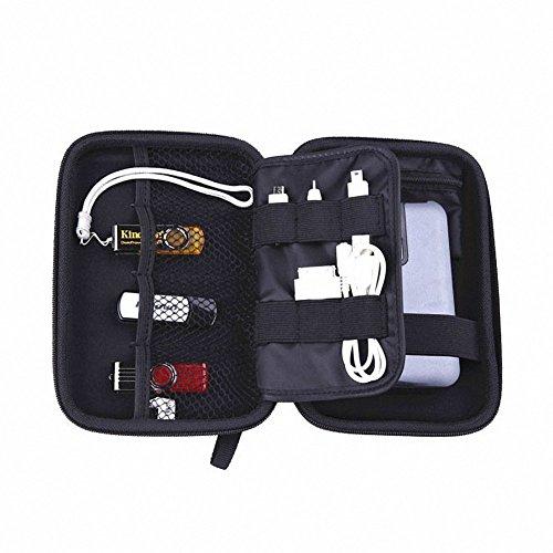 Elvam EVA Shockproof Waterproof Portable Hard Drive Case Bag / Cable Case Bag / USB Flash Drive Case Bag / Power Bank Case Bag / GPS Case and Digital Camera Case - Blue by Elvam (Image #4)