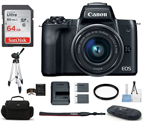 Canon EOS M50 Digital Camera (15-45mm, Black)