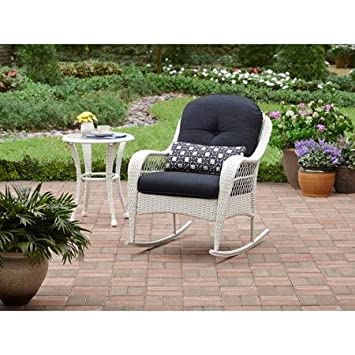 Azalea Ridge All-Weather Rocker, Uv-Protection, Perfect for The Front Porch, Patio or Sunroom, White White