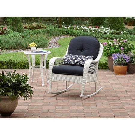 Azalea Ridge All-weather Rocker, Uv-protection, Perfect for the Front Porch, Patio or Sunroom, White (Sunroom Chairs)