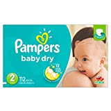 Pampers Baby Dry Diapers Size 2, 112 Count
