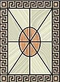 Dollhouse Miniature Floor Cloth - Greek Key