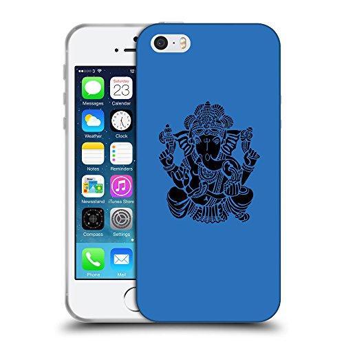 GoGoMobile Coque de Protection TPU Silicone Case pour // Q08150608 Hindou 6 Azur // Apple iPhone 5 5S 5G SE