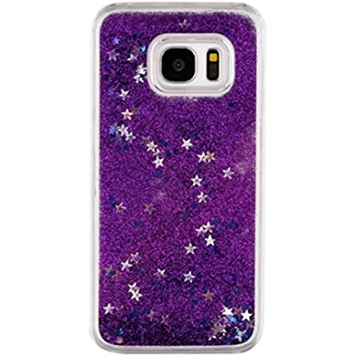 Galaxy S7 Summer Sand Shell, OMORRO Newest Glitter Bling Flowing Floating Quicksand Dynamic Moving Glitter Stars Sales
