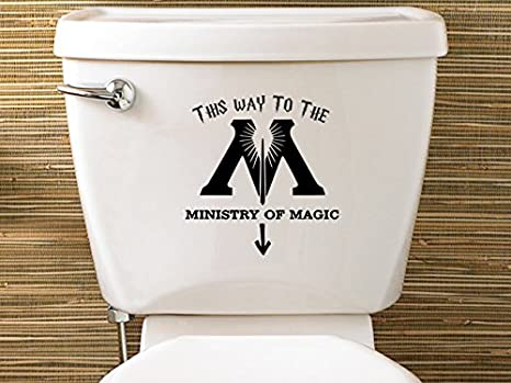 Harry Potter Inspired Ministry Of Magic Toilet Sticker By Level 33