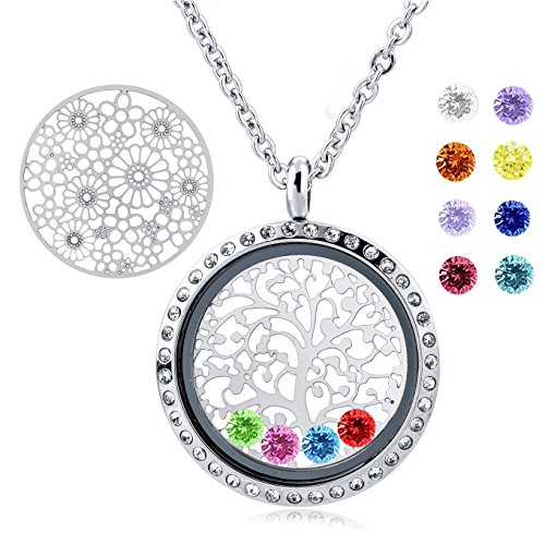 Necklace Floating Stainless Girlfriend Christmas
